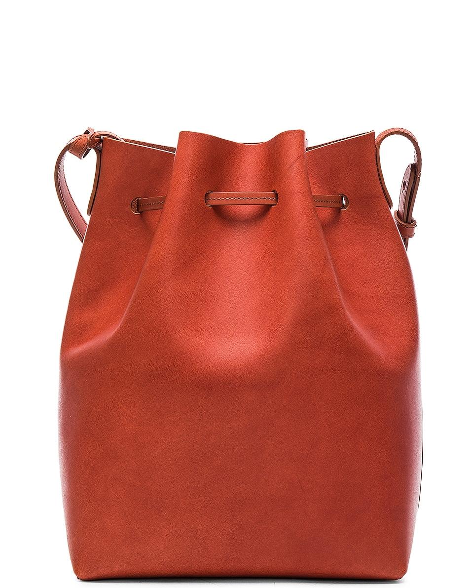 Image 3 of Mansur Gavriel Bucket Bag in Brandy