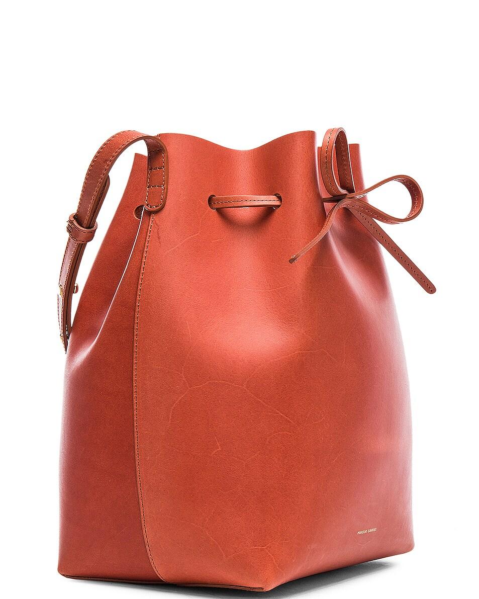 Image 4 of Mansur Gavriel Bucket Bag in Brandy