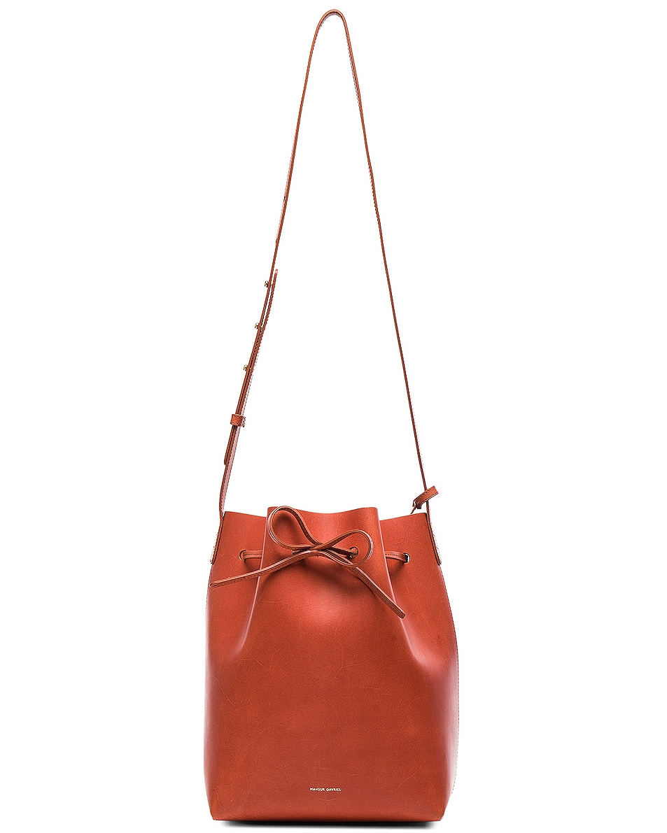 Image 6 of Mansur Gavriel Bucket Bag in Brandy