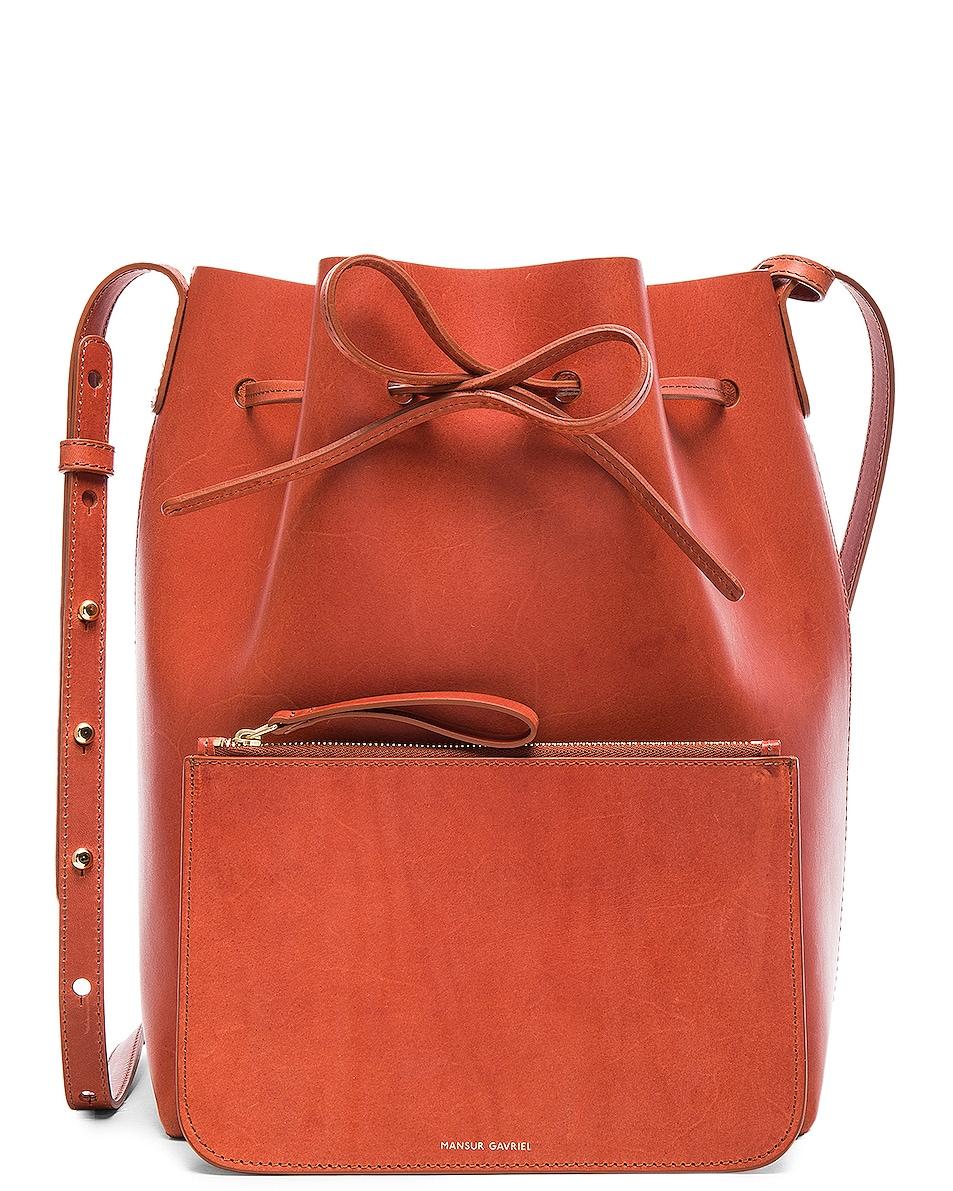 Image 7 of Mansur Gavriel Bucket Bag in Brandy