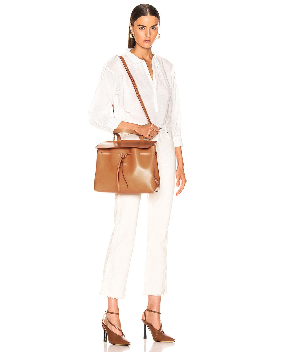 Image 2 of Mansur Gavriel Lady Bag in Cammello & Rosa
