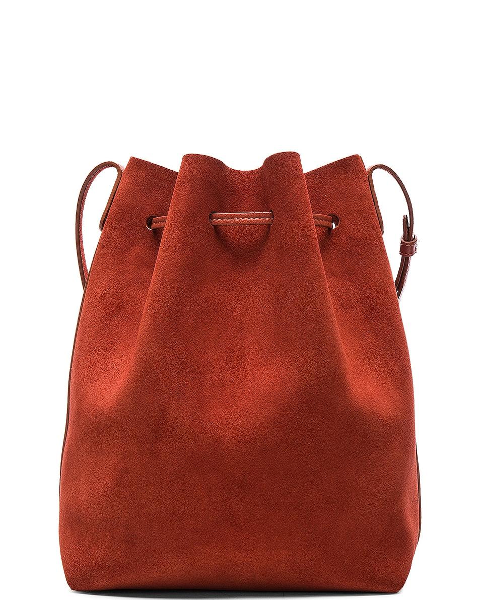 Image 3 of Mansur Gavriel Bucket Bag in Brick Suede