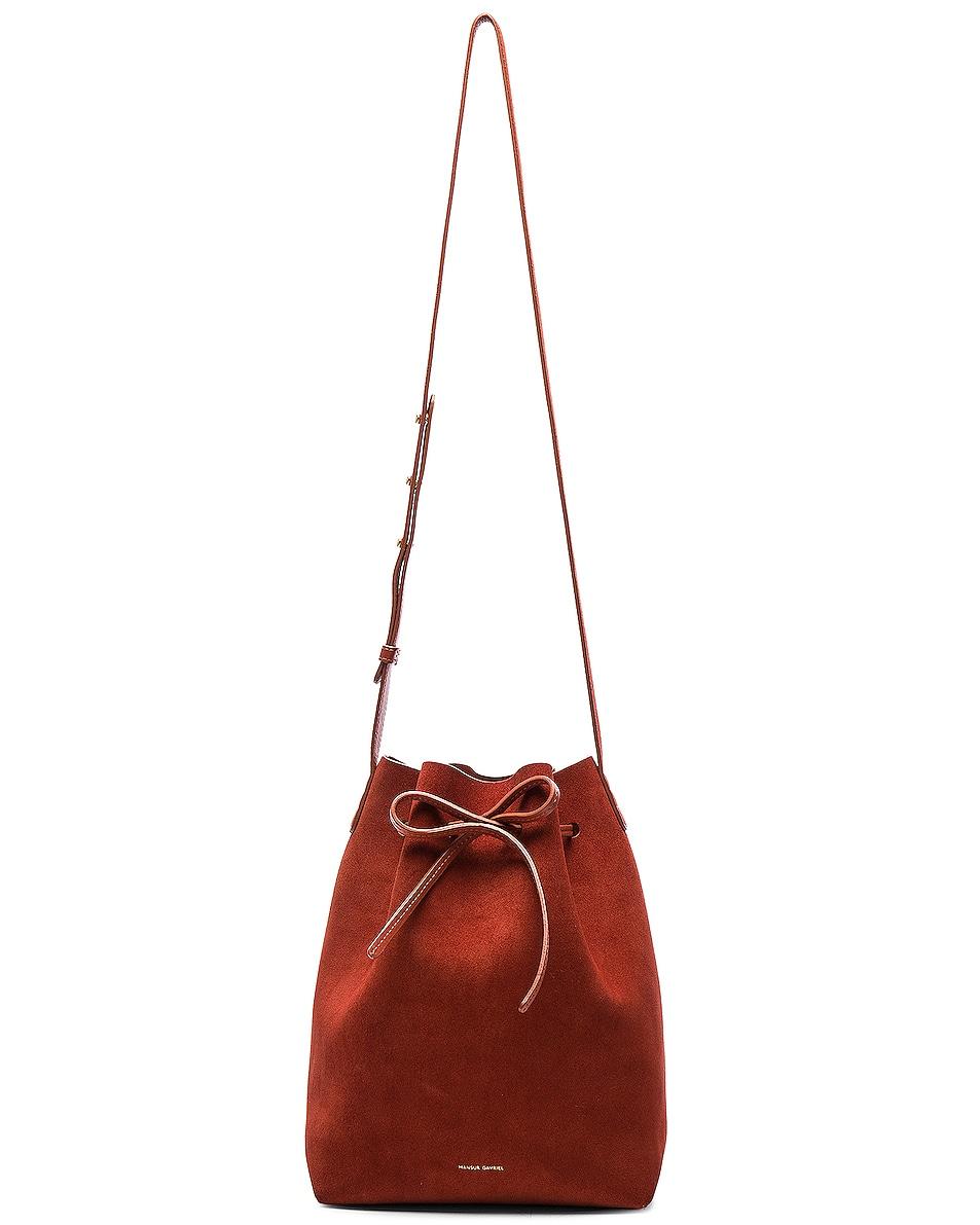 Image 7 of Mansur Gavriel Bucket Bag in Brick Suede