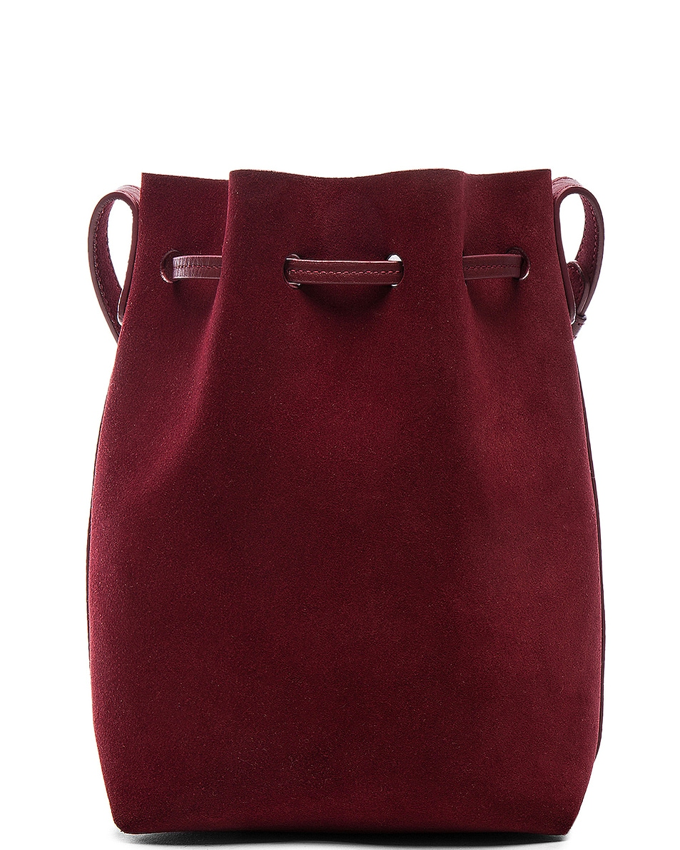 Image 3 of Mansur Gavriel Mini Bucket Bag in Rococo Suede