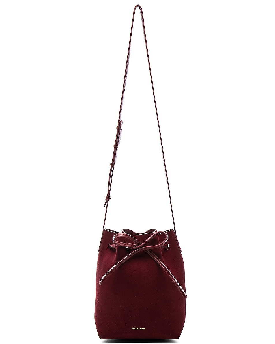 Image 6 of Mansur Gavriel Mini Bucket Bag in Rococo Suede