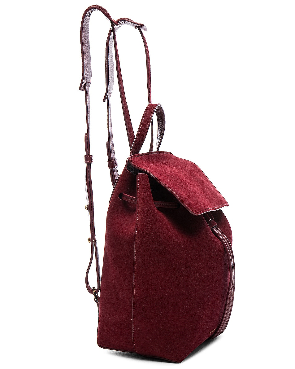 Image 4 of Mansur Gavriel Mini Backpack in Rococo Suede