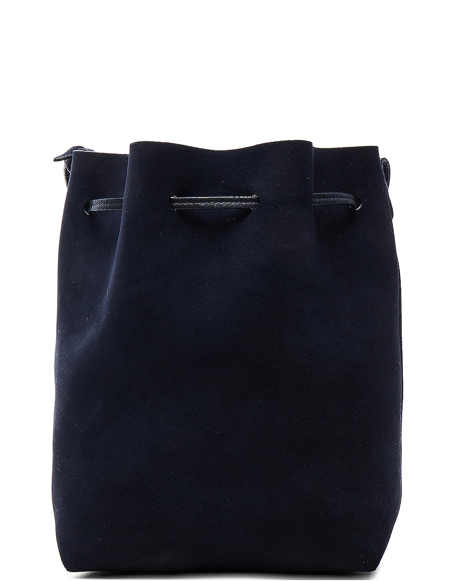 Image 3 of Mansur Gavriel Bucket Bag in Blu Suede