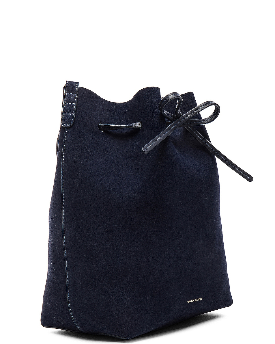 Image 4 of Mansur Gavriel Bucket Bag in Blu Suede