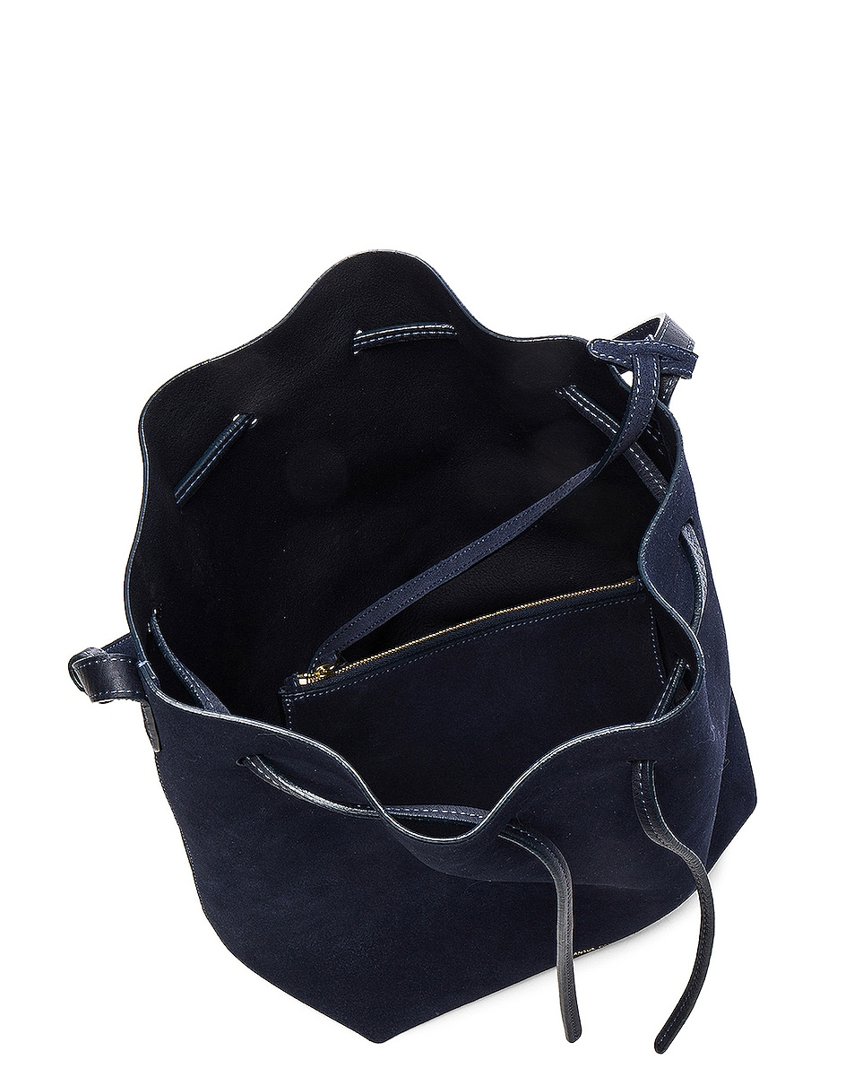 Image 5 of Mansur Gavriel Bucket Bag in Blu Suede