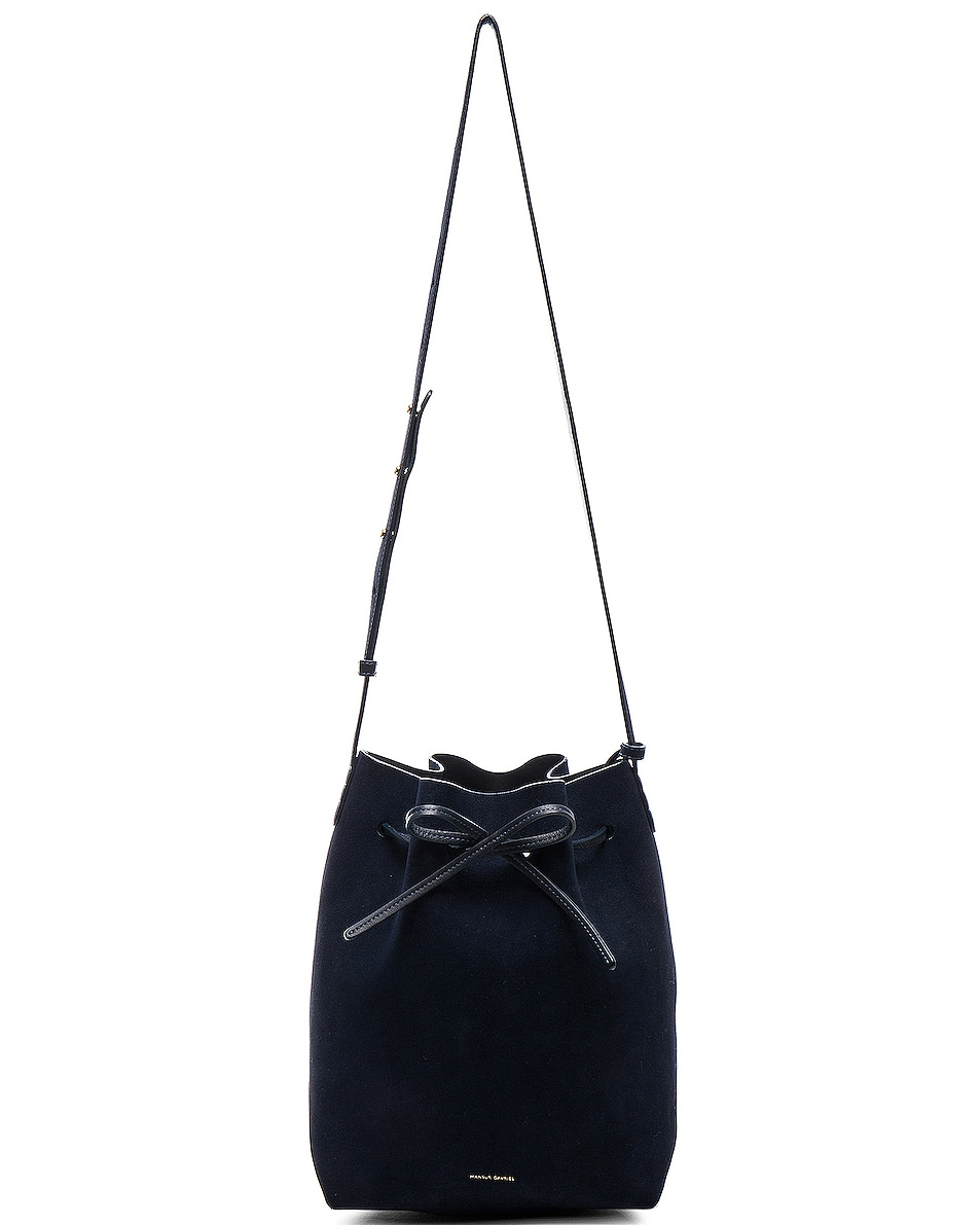 Image 6 of Mansur Gavriel Bucket Bag in Blu Suede