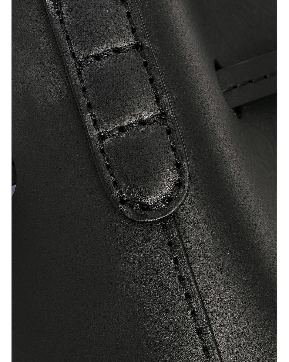 Image 6 of Mansur Gavriel Coated Mini Bucket Bag in Black & Royal