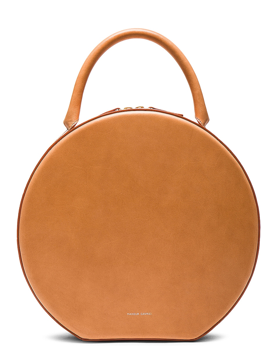 Image 1 of Mansur Gavriel Circle Bag in Cammello