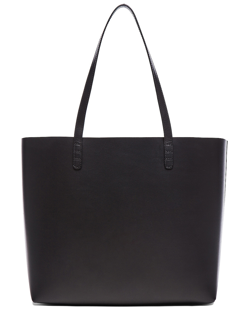 Image 3 of Mansur Gavriel Large Tote in Black & Flamma