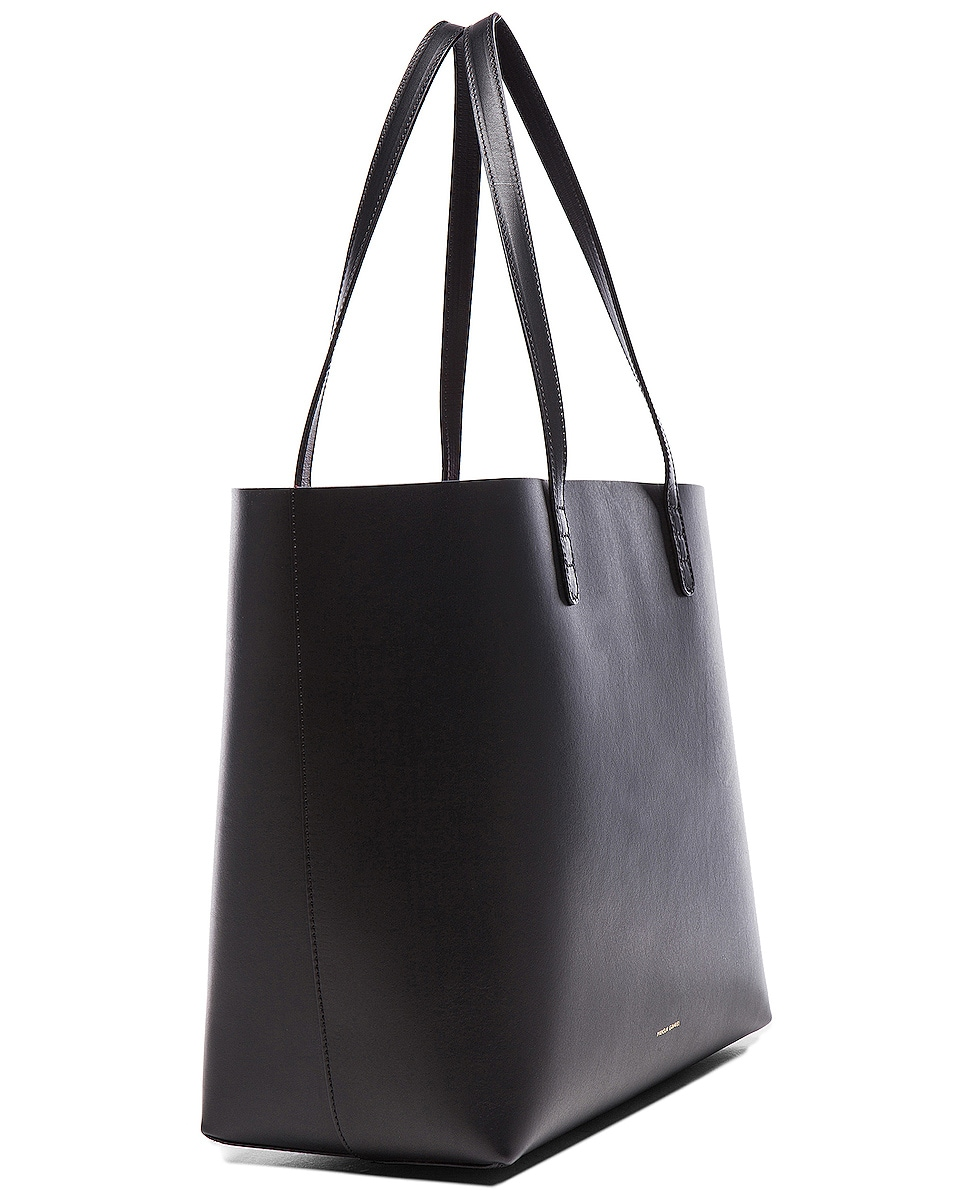 Image 4 of Mansur Gavriel Large Tote in Black & Flamma