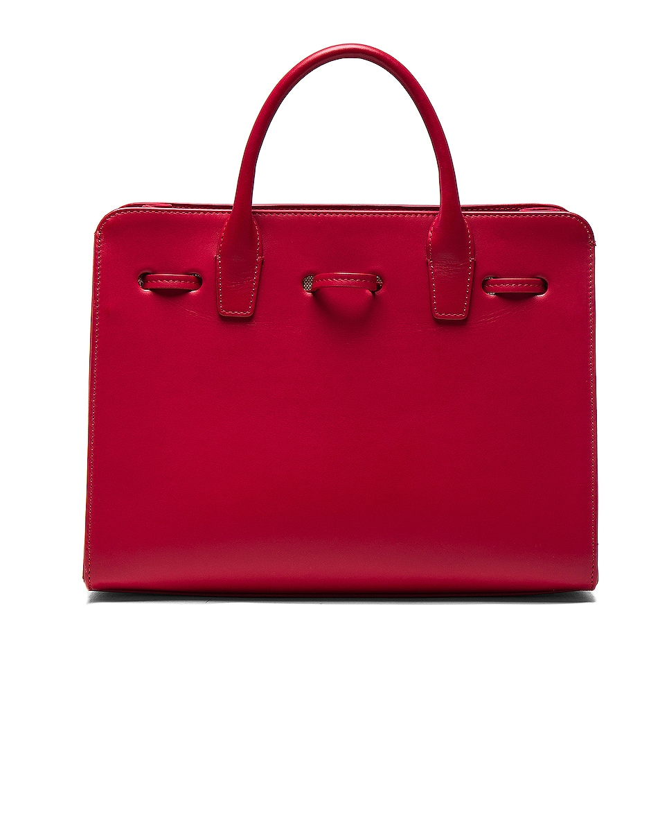 Image 3 of Mansur Gavriel Mini Sun Bag in Flamma Calf