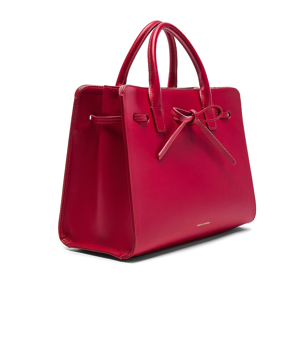 Image 4 of Mansur Gavriel Mini Sun Bag in Flamma Calf