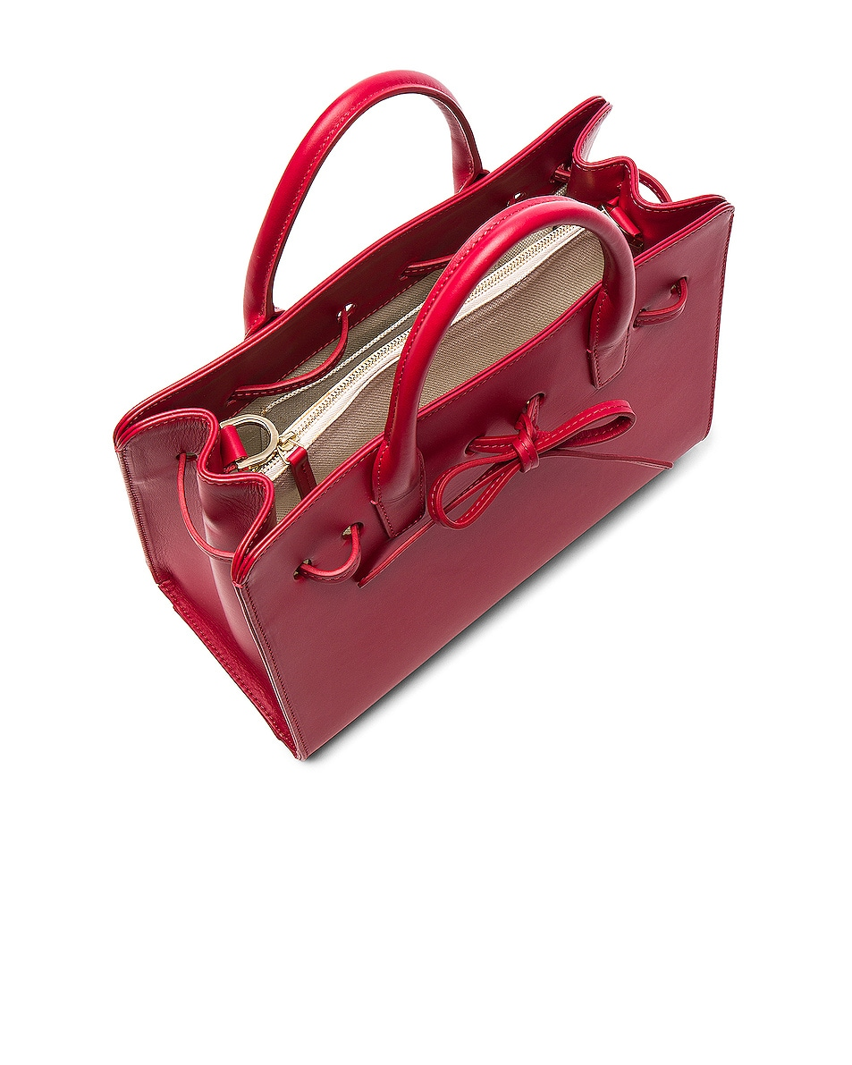 Image 5 of Mansur Gavriel Mini Sun Bag in Flamma Calf