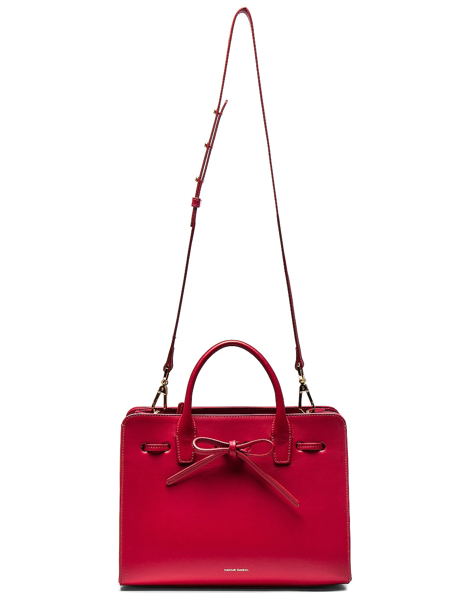 Image 6 of Mansur Gavriel Mini Sun Bag in Flamma Calf