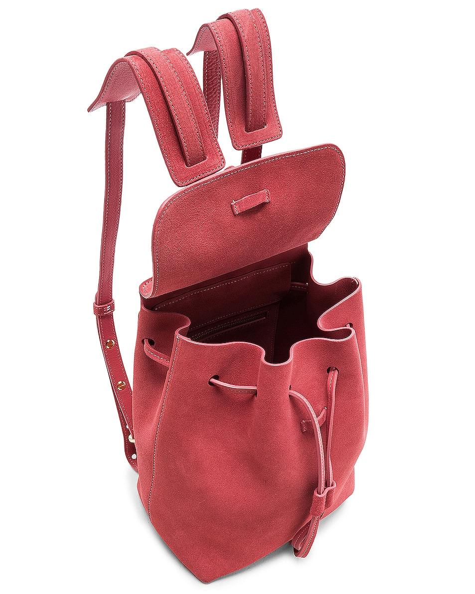 Image 5 of Mansur Gavriel Mini Backpack in Blush Suede