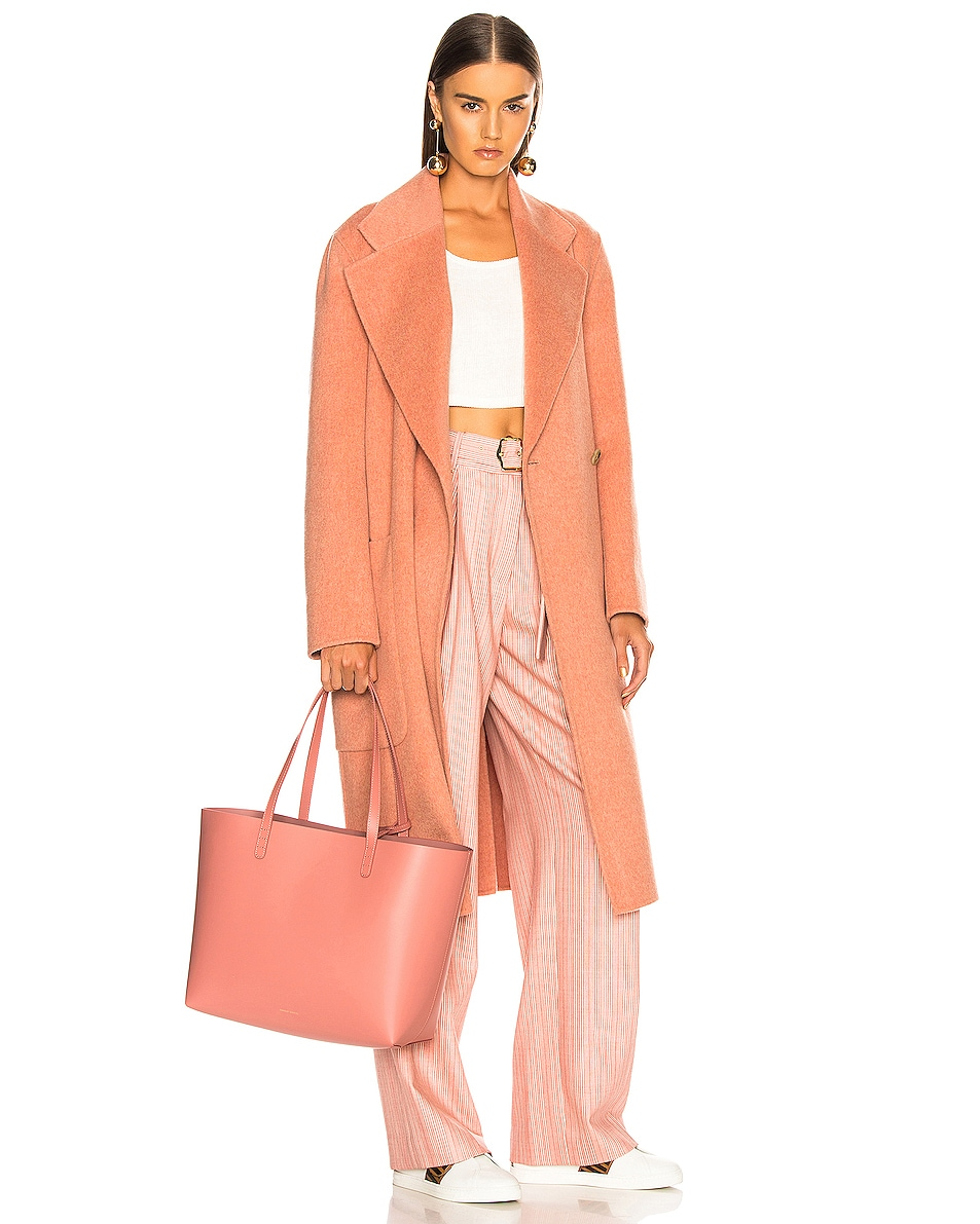 Image 2 of Mansur Gavriel Large Tote in Blush Calf