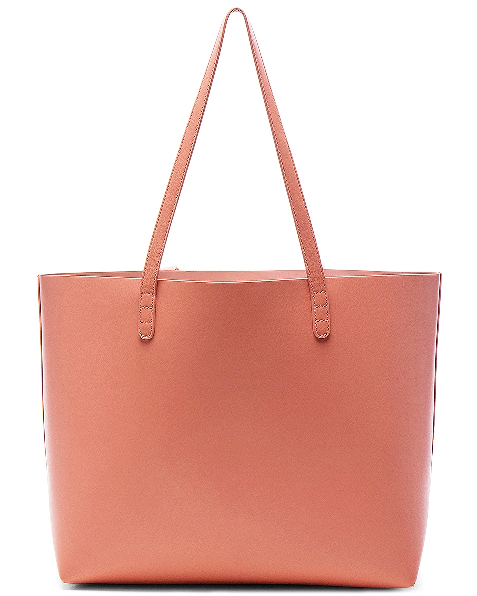 Image 3 of Mansur Gavriel Large Tote in Blush Calf
