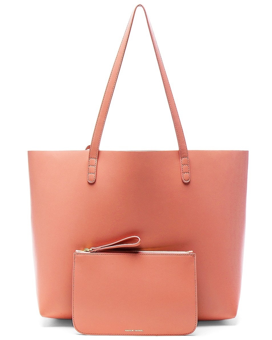 Image 6 of Mansur Gavriel Large Tote in Blush Calf