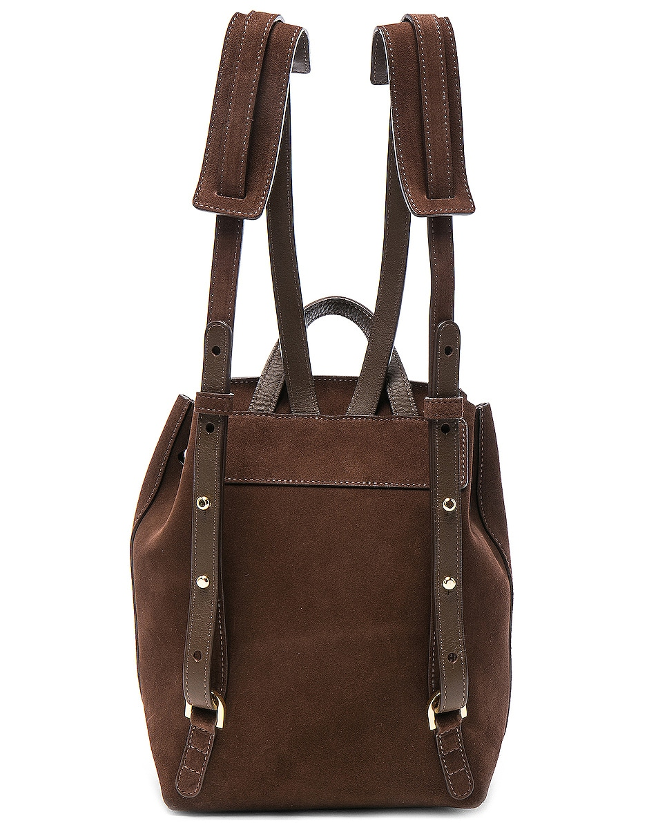 Image 3 of Mansur Gavriel Mini Backpack in Chocolate Suede