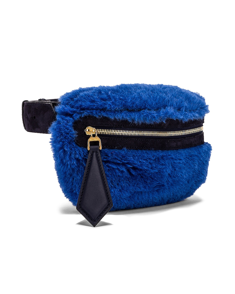 Image 4 of Max Mara Teddy Fanny Pack in Cornflower Blue