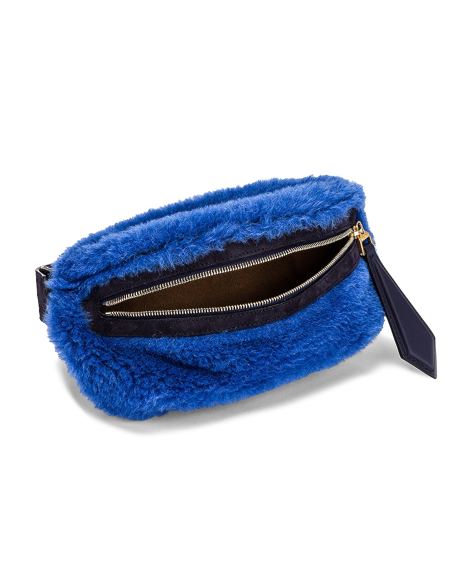 Image 5 of Max Mara Teddy Fanny Pack in Cornflower Blue