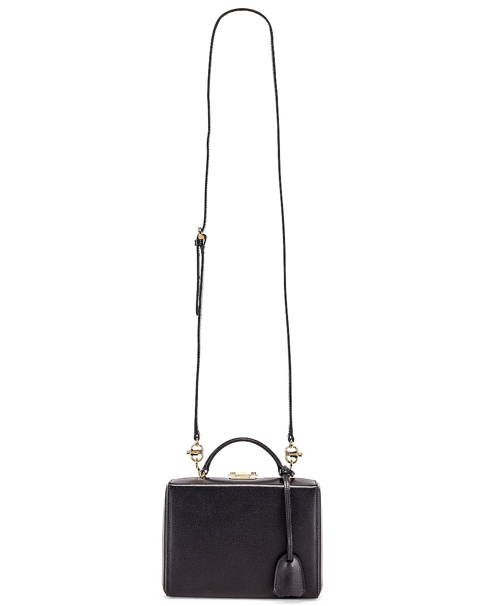 Image 6 of Mark Cross Grace Small Box Bag in Black
