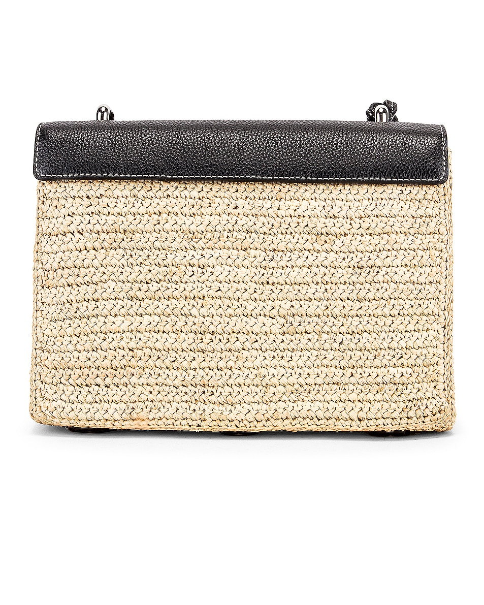 Image 3 of Mark Cross Downtown Raffia Bag in Natural & Black