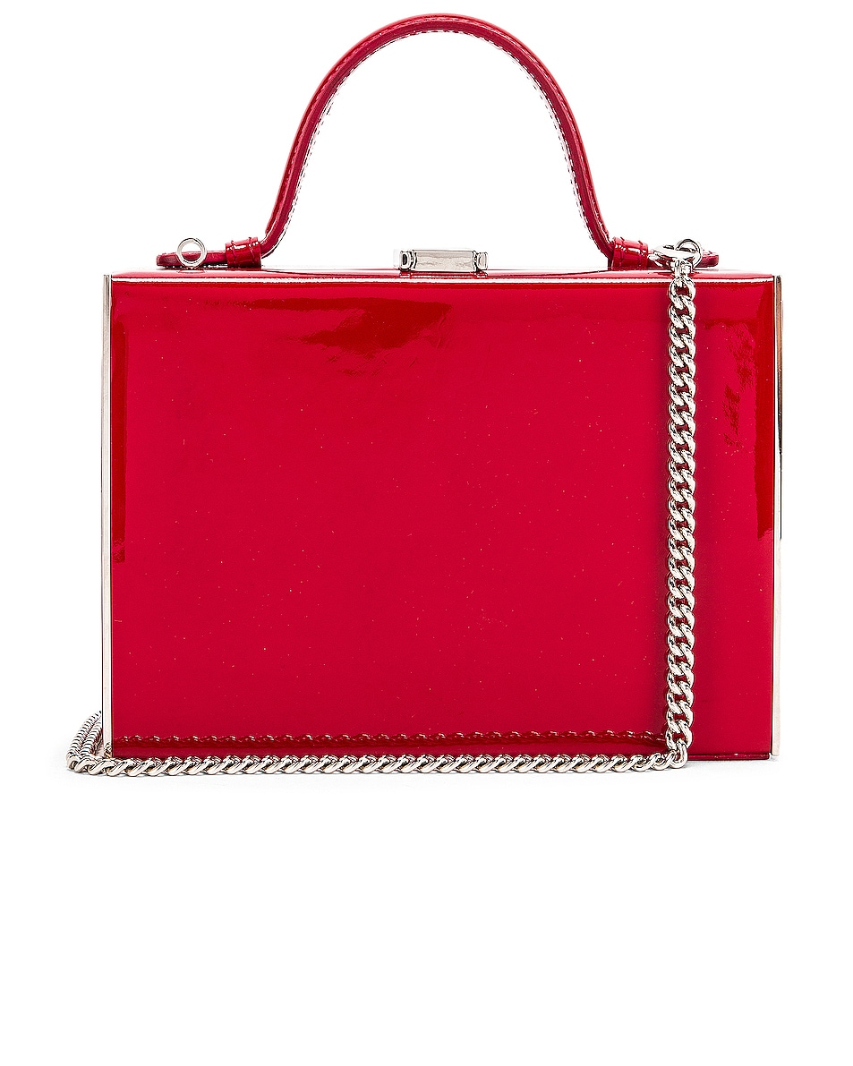 Image 1 of Mark Cross Rear Window Evening Bag in Red