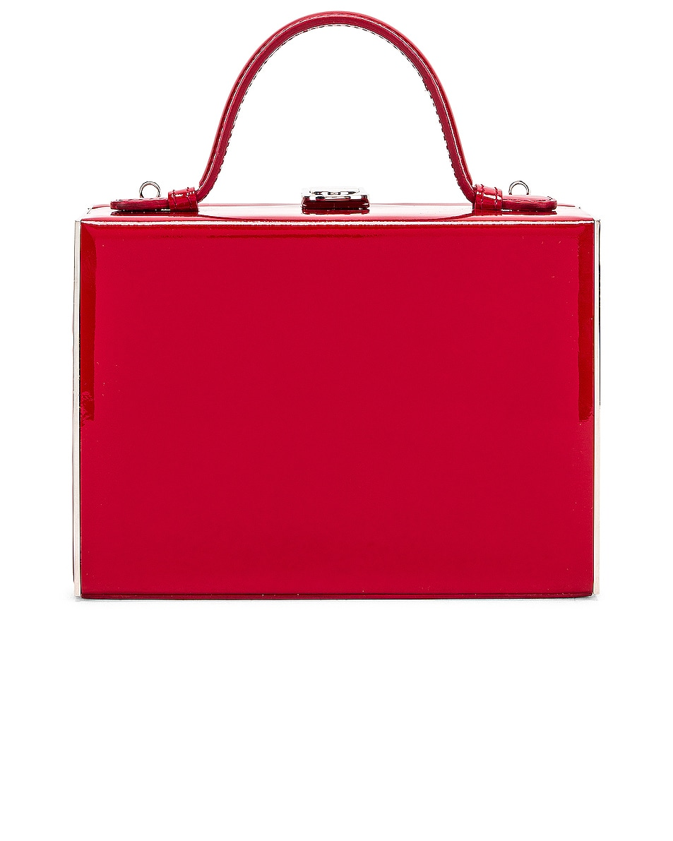 Image 3 of Mark Cross Rear Window Evening Bag in Red