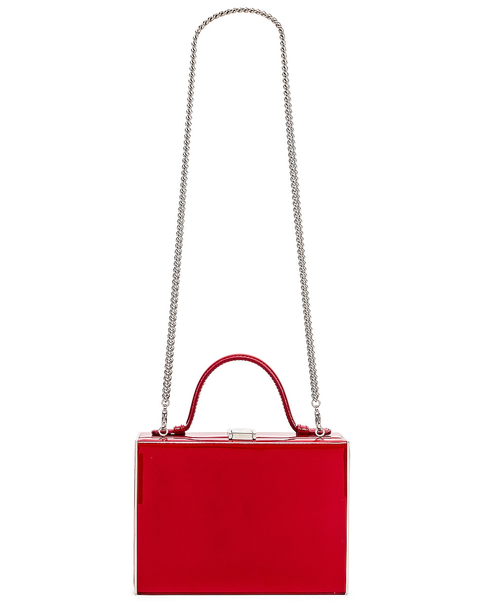 Image 6 of Mark Cross Rear Window Evening Bag in Red