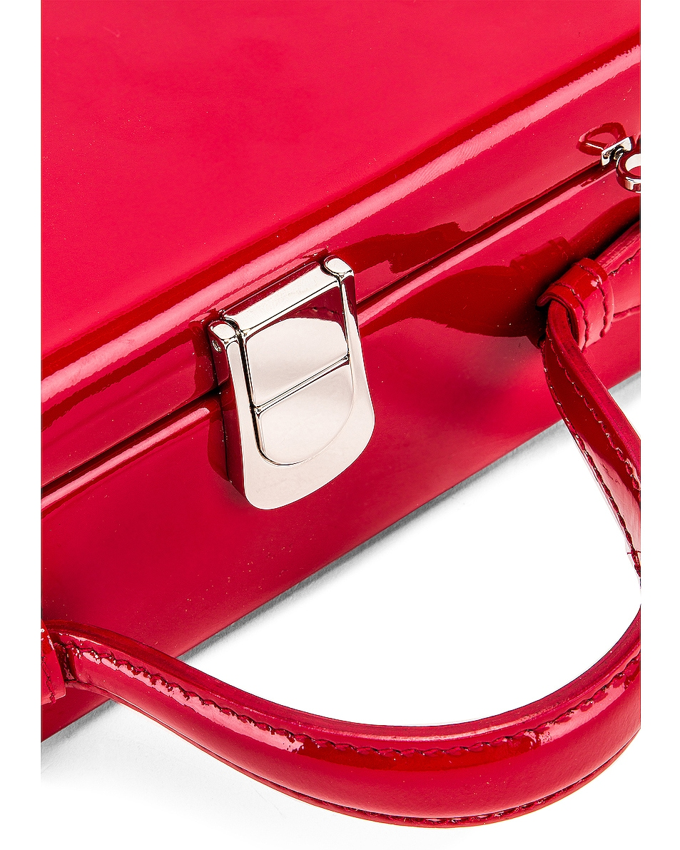 Image 8 of Mark Cross Rear Window Evening Bag in Red