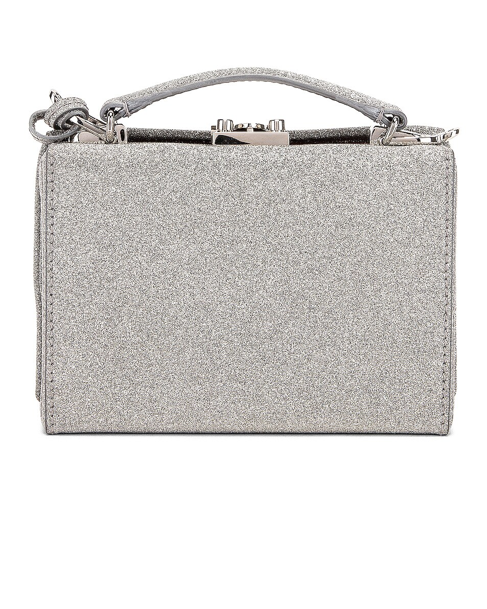 Image 3 of Mark Cross Grace Glitter Mini Box Bag in Silver