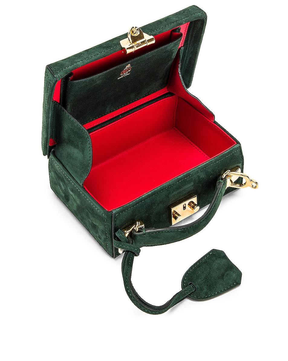 Image 5 of Mark Cross Grace Mini Box Bag in Evergreen