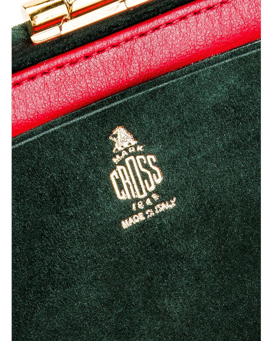 Image 7 of Mark Cross Grace Mini Box Bag in Evergreen