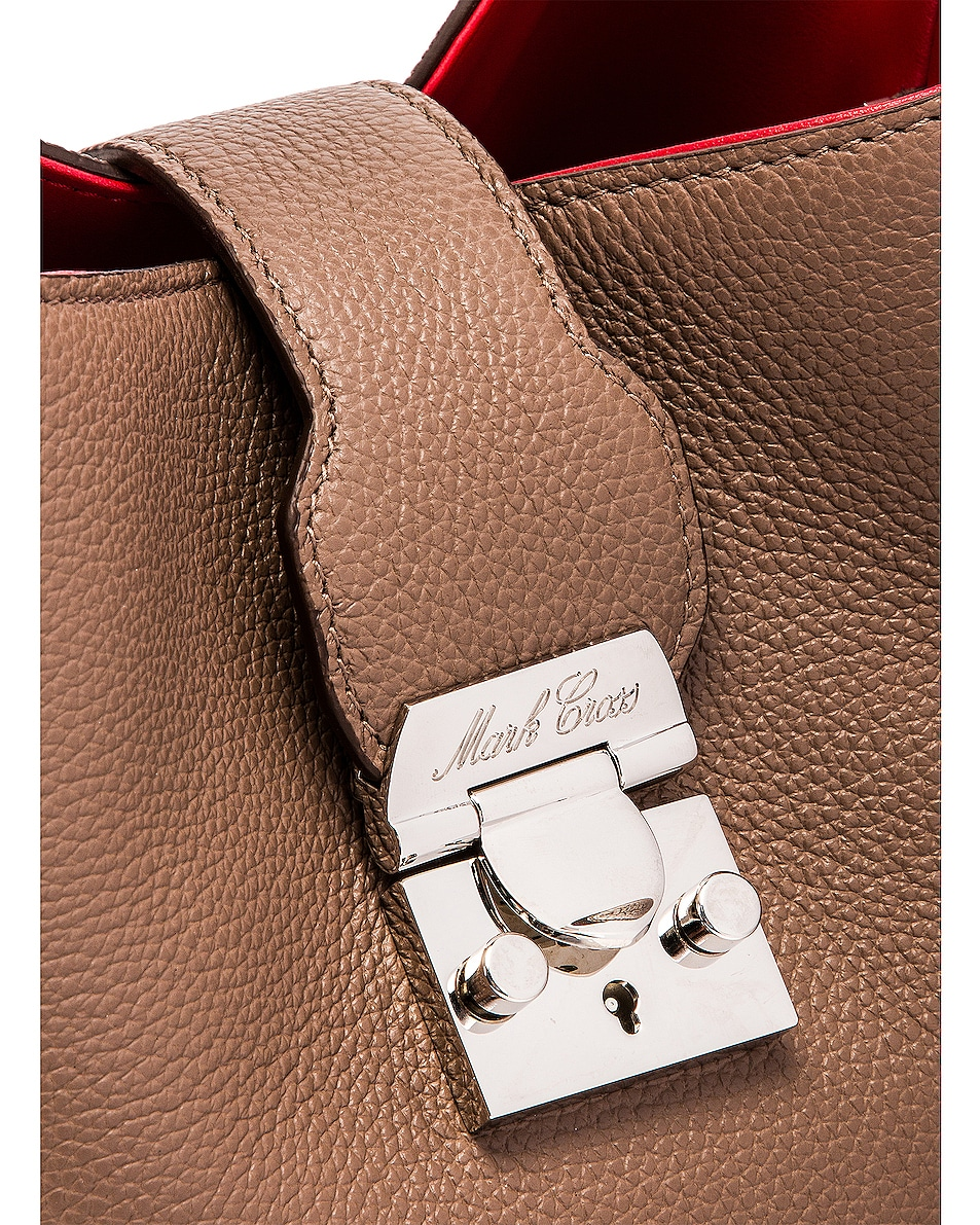 Image 8 of Mark Cross Murphy Small Bucket Bag in Mushroom