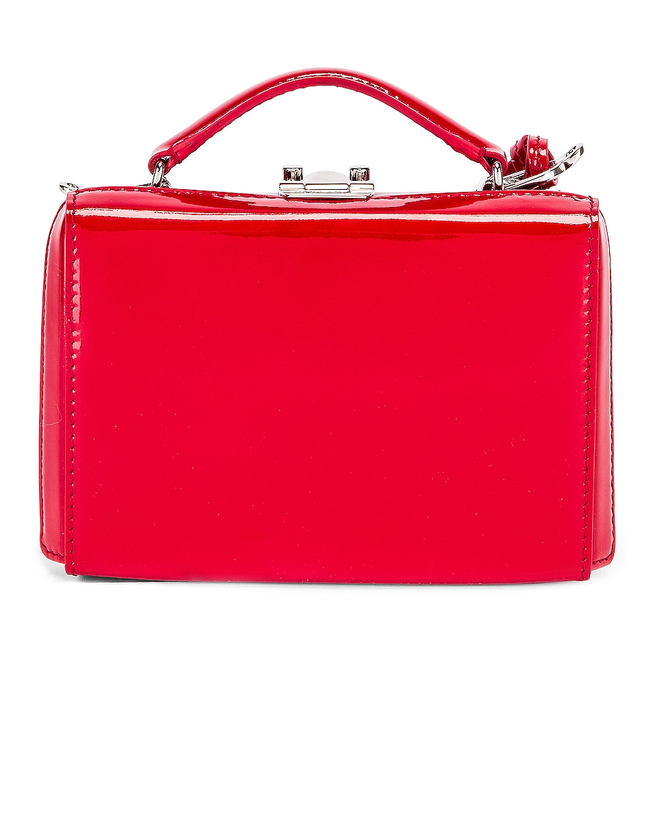 Image 2 of Mark Cross Grace Mini Box Bag in Red