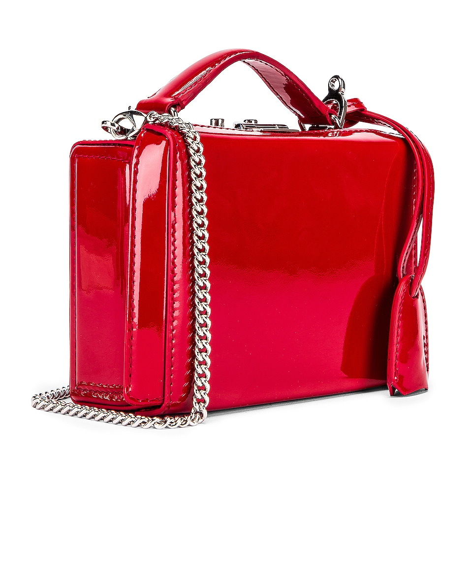 Image 3 of Mark Cross Grace Mini Box Bag in Red