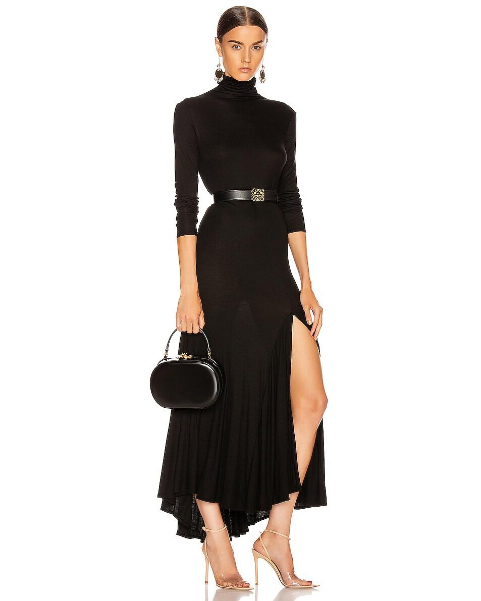 Image 2 of Mark Cross Gianna Oval Box Bag in Black