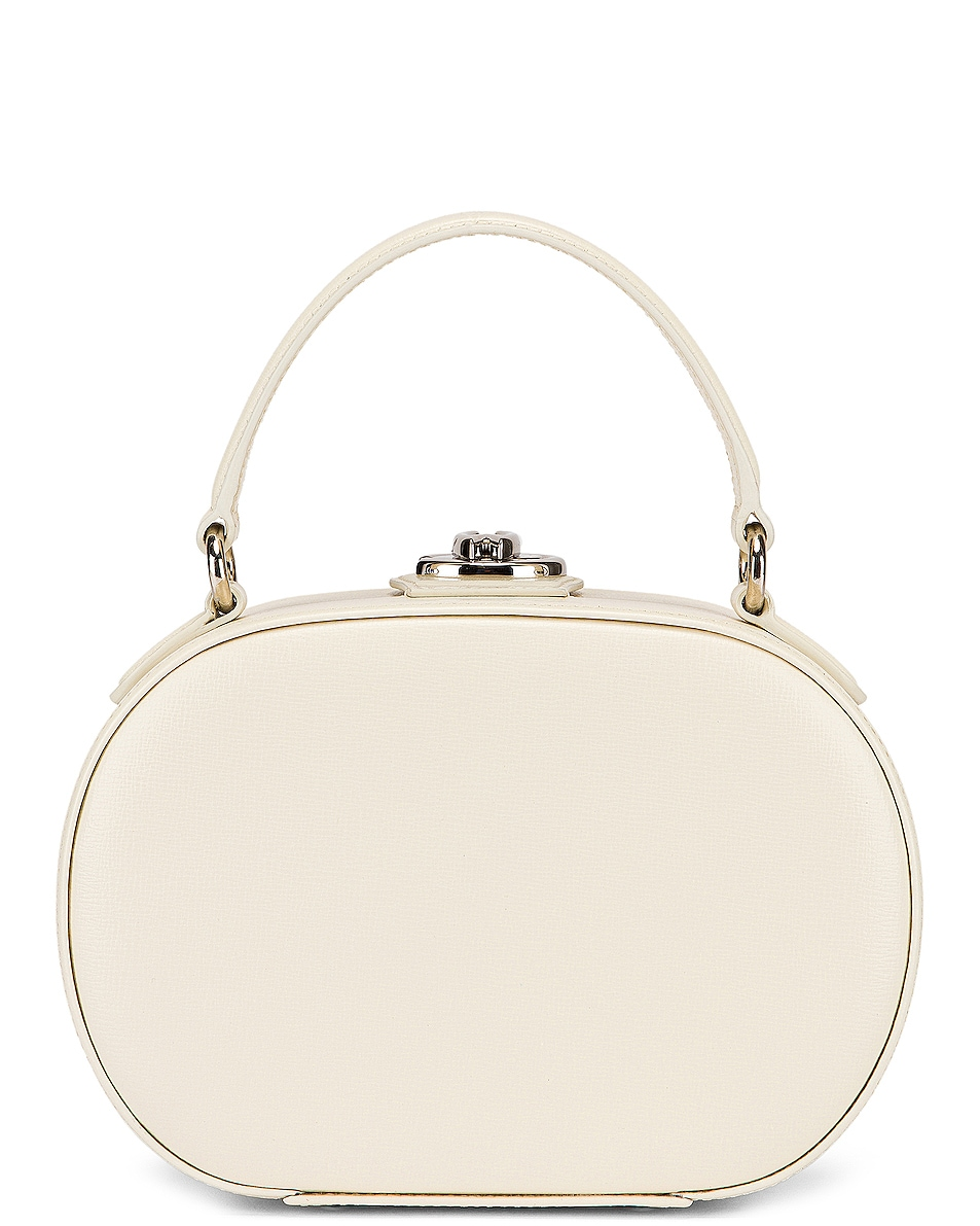 Image 1 of Mark Cross Gianna Oval Box Bag in Winter White