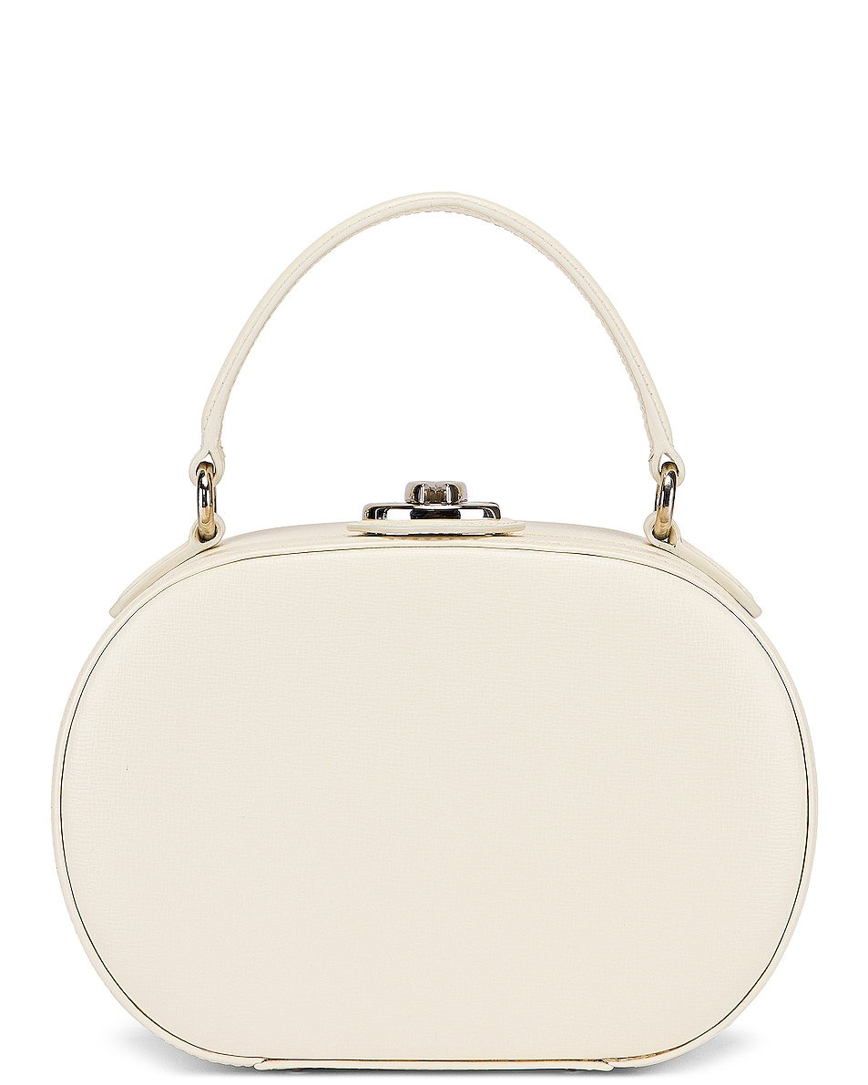 Image 2 of Mark Cross Gianna Oval Box Bag in Winter White