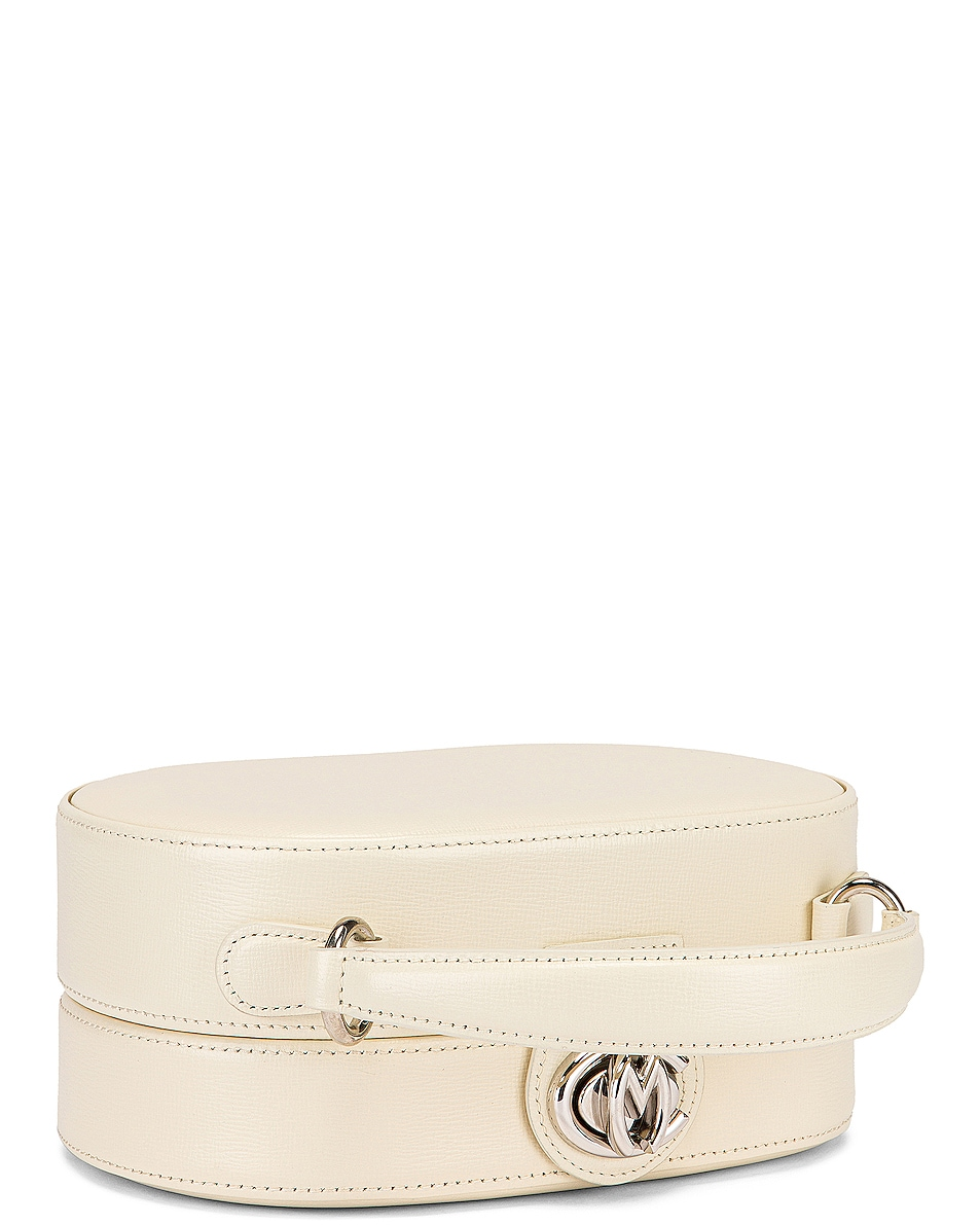 Image 3 of Mark Cross Gianna Oval Box Bag in Winter White