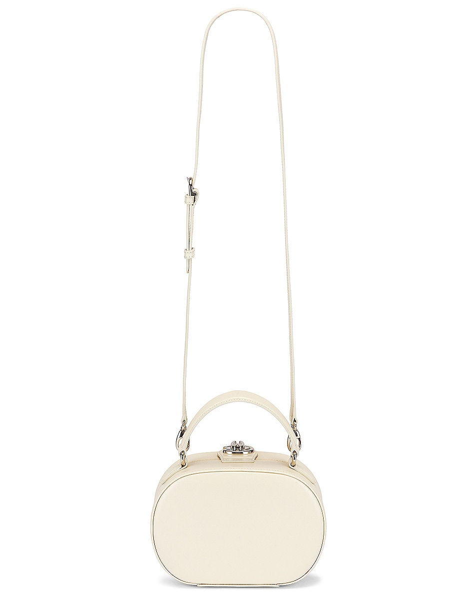 Image 5 of Mark Cross Gianna Oval Box Bag in Winter White