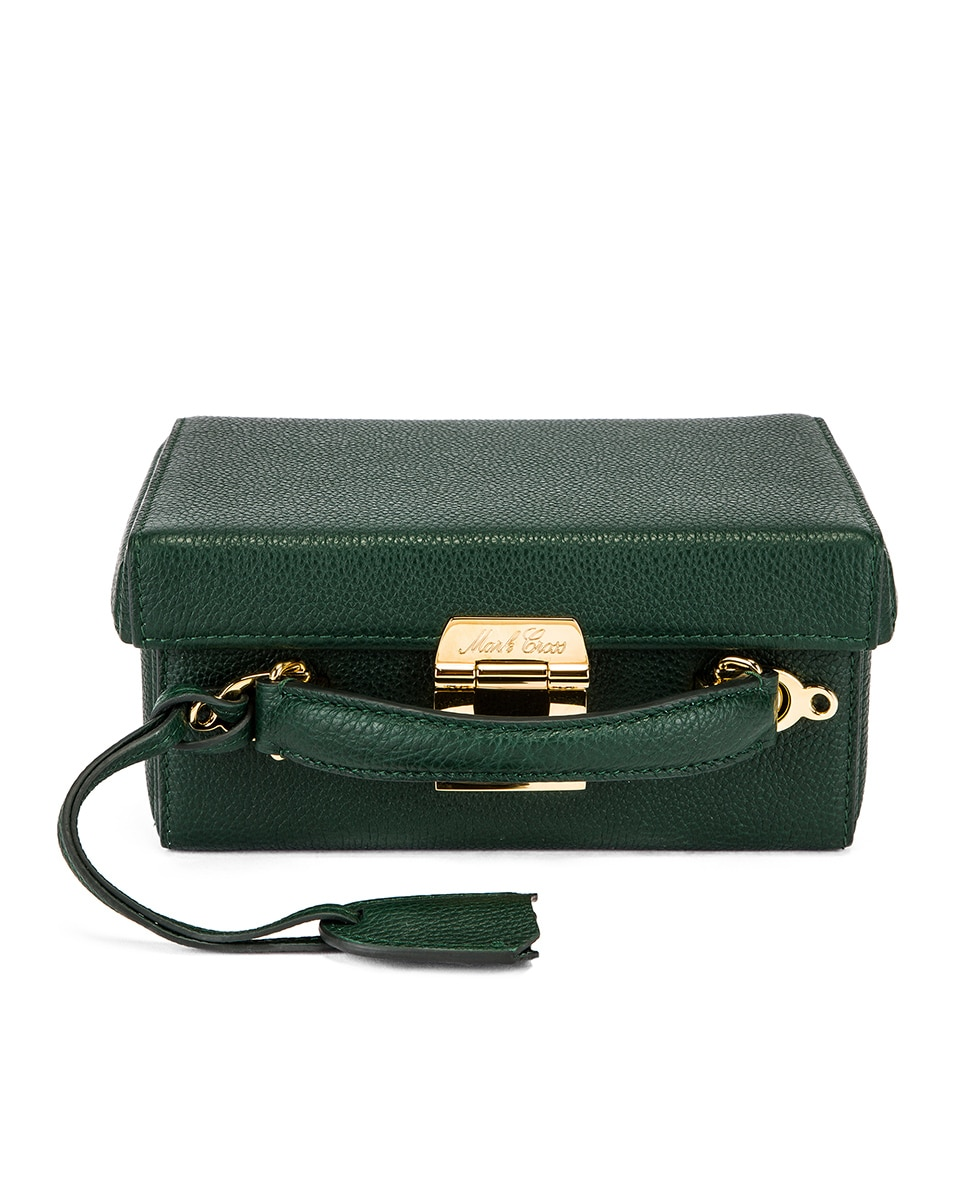 Image 1 of Mark Cross Grace Small Box Bag in Evergreen