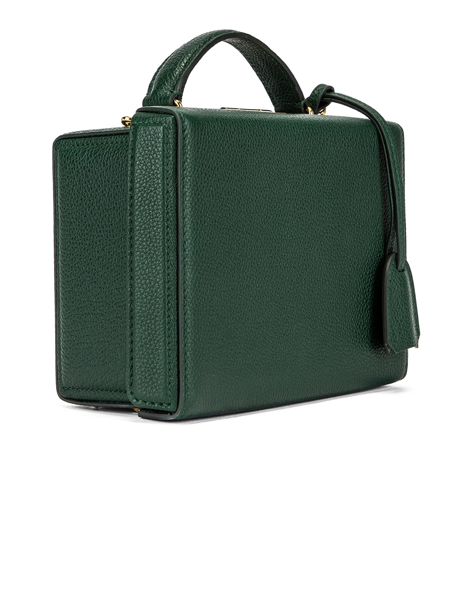 Image 4 of Mark Cross Grace Small Box Bag in Evergreen