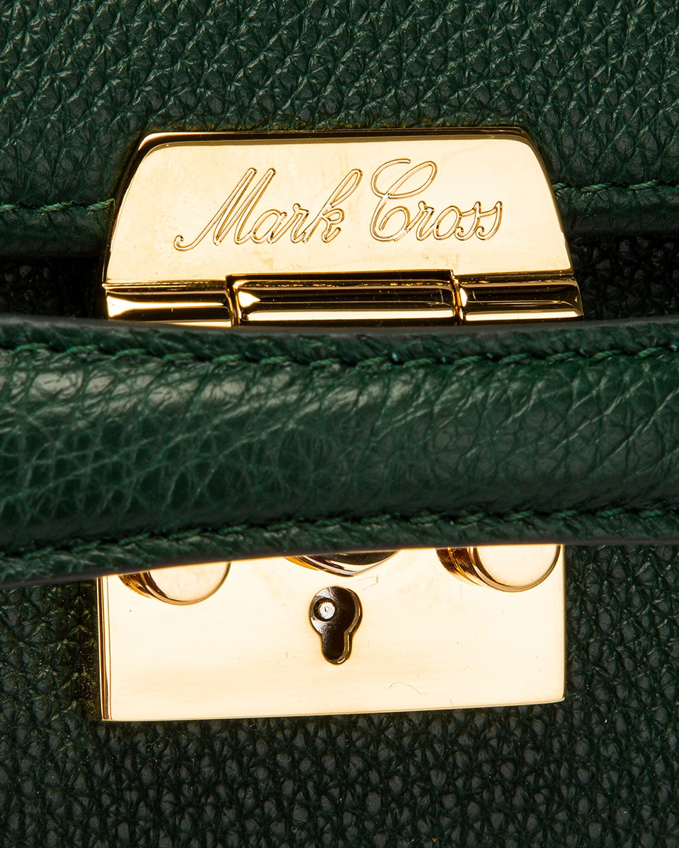 Image 8 of Mark Cross Grace Small Box Bag in Evergreen