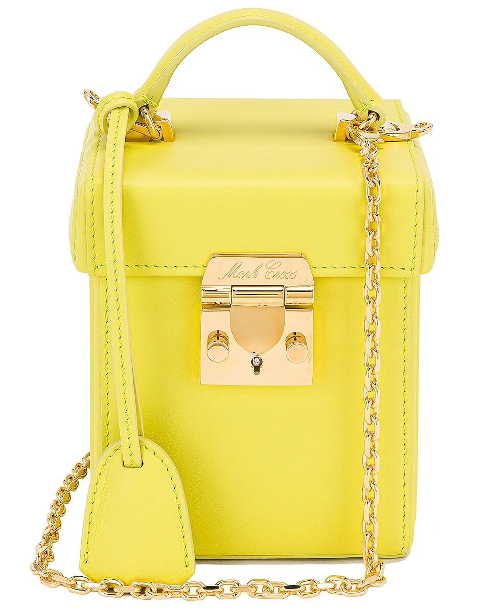Image 1 of Mark Cross Grace Cube Bag in Citron